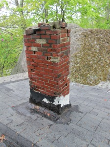 Before: chimney. Needed to be taken down.