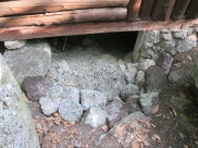 More rock work near the entry.