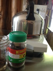 We made coffee indoors! And even ate a meal inside, with no gross factor.