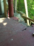 Very structurally sound. This was the front corner of the porch. Plywood skin over rotten old subfloor - never smart.
